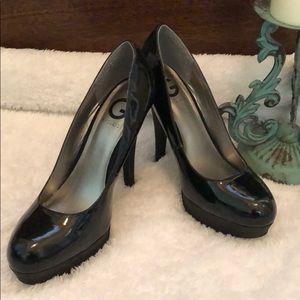 Sparkle black heels